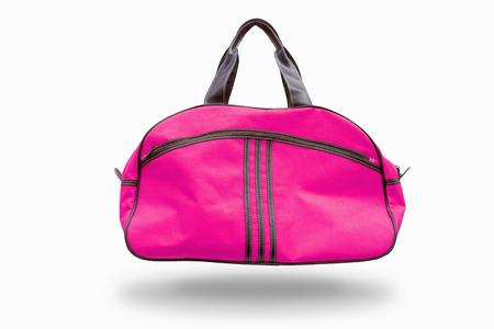 クリッピング パス付きのピンクのスポーツ バッグ