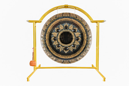 gong isolated on white background with clipping path