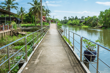 The river walkway in Thailand
