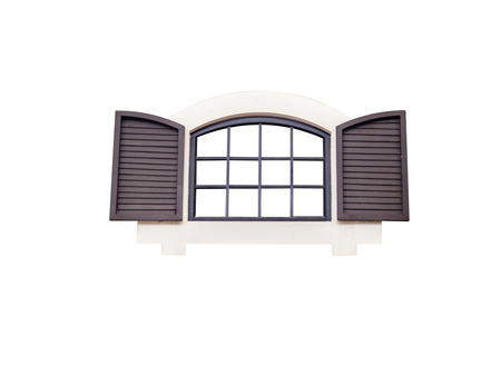 window,isolated on white background with clipping path.