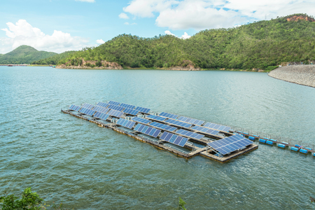 Solar cells are installed to float in water, aiming to save space in production.