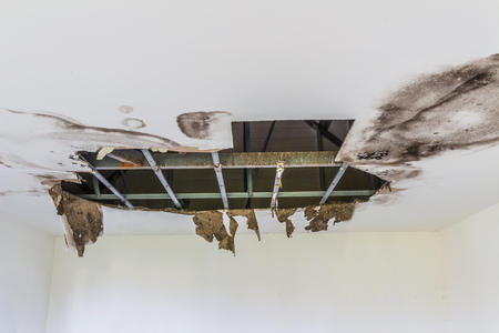 The ceiling broke down