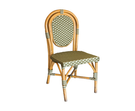 colorful wicker chair,isolated on white background with clipping path.