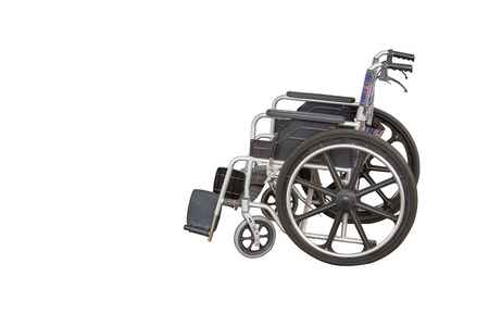 Wheelchair, isolated on white background with clipping path.
