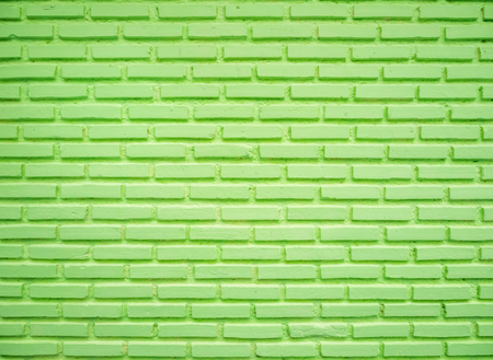 Green brick wall, used for background image. Stock Photo