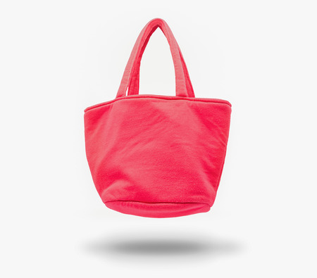 The red bag lady,isolated