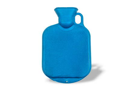 blue Hot water bag ,isolated on white background with clipping path.
