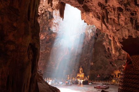 Light from the cave. The nature wonderful tourist attraction of Thailand, the place of Khao Luang Cave, Phetchaburi Province. 写真素材