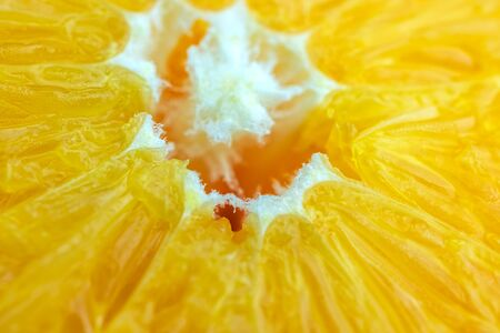 macro of texture orange fruit .Close up flesh of orange.