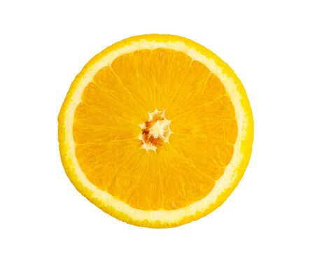 Oranges are cut in half,isolated on white background  with clipping path 写真素材