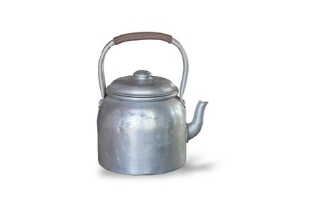 retro kettle,isolated on white background with clipping path.