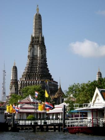 phraya: Wat Arun from Chao Phraya River                                Stock Photo