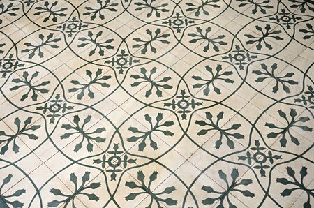 perspectiva lineal: azulejo patr�n planta retro