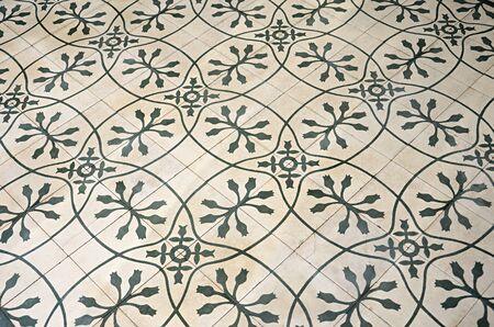 tile floor retro pattern photo