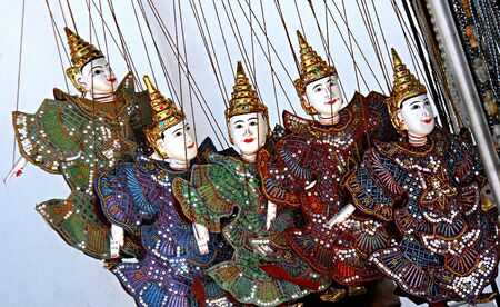 five puppet of Temple in Myanmar photo