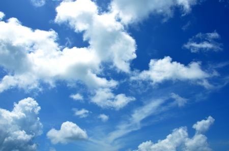 cumulus: Blue sky background Stock Photo