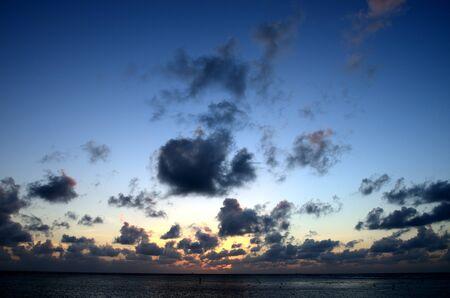twilight beautiful sunset on the sea photo