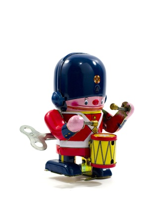Old Metal Toy - The Drummer British Army photo