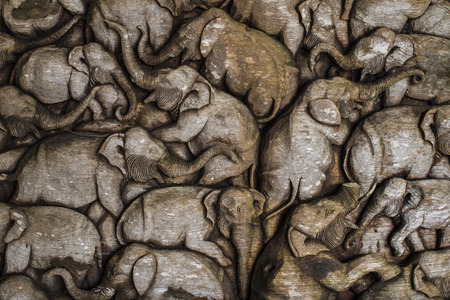 antique furniture: Beautiful Thailand Antique Art Handmade Furniture. Carvings Elephant Family in The Wood, Antique Design blackground