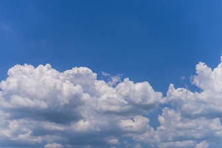 blue sky background with a Big cloud Stock Photo