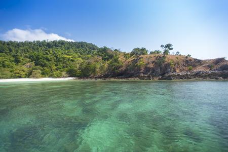 pasadena: Tropical beach scenery, Andaman sea, View of Zadetkyi island, Myanmar (Burma)