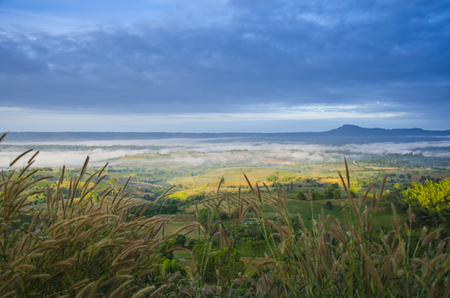 Thailand view, Khao Kho. Khao Kho is a 1143 m high mountain in Phetchabun Province, Thailand. It is located in Khao Kho District, giving its name to the district.