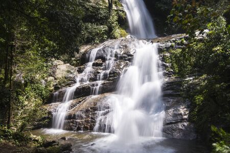 Huai sai lueang waterfall in Doi inthanon national park, Thailand Stock Photo