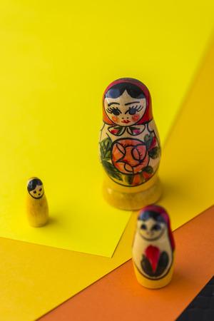 Russian Traditional Dolls Matrioshka - Matryoshka or Babushka, Sensitive Focus Stock Photo