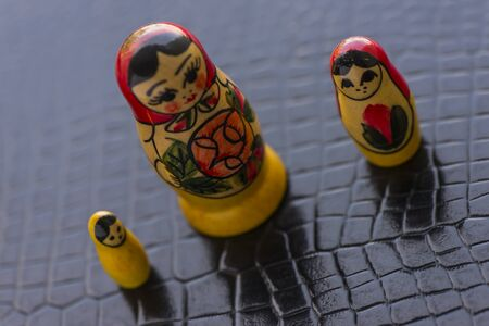 Russian Traditional Dolls Matrioshka - Matryoshka or Babushka, Sensitive Focus Stock Photo