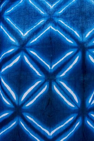 Tie batik dyeing tie batik indigo color or mauhom color on fabric background