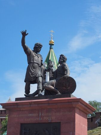 minin: Monument to Minin and Pozharsky in Nizhny Novgorod, Russia. Editorial