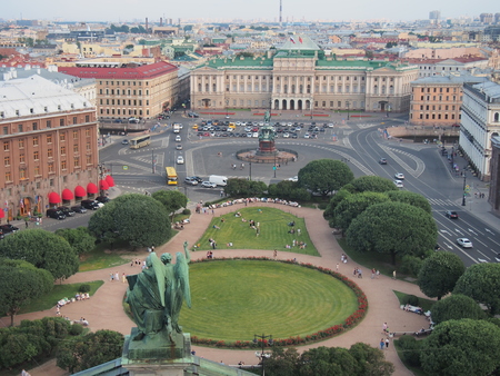 View of St. Petersburg from St. Isaac's Cathedral. Russia. Landscape.