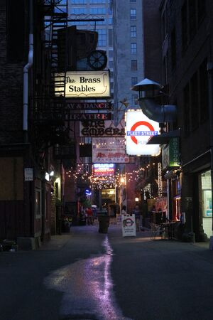 Printers Alley Nashville TN Stock fotó - 45998310