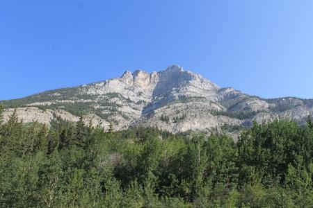 banff: Castle Mountain, Banff National Park Stock Photo