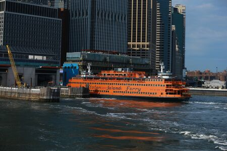 The Staten Island Ferry in New York City harbor.