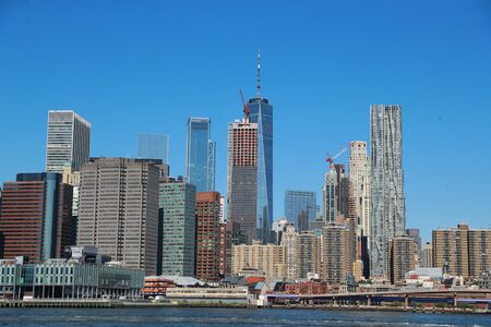 A view of lower Manhattan is seen from across the East River in Brooklyn.