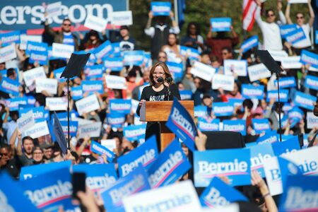 The mayor of the city of San Juan, Puerto Rico Carmen Yulín Cruz speaks at the Bernies Back Rally in Long Island City, N.Y. on Saturday, Oct. 19, 2019. (Photo: Gordon Donovan) Редакционное