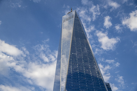 One World Trade Center in lower Manhattan. Sajtókép