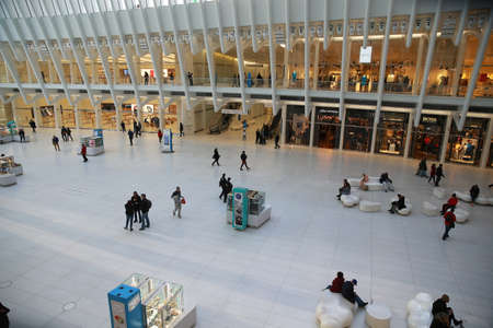 Popular tourist and shopping destinations like The Oculus at the World Trade Center site in lower Manhattan are very quiet due to health concerns due to the coronavirus outbreak on Sunday, March 15, 2020, in New York. (Photo: Gordon Donovan)