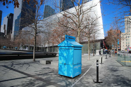 Popular tourist destinations like the World Trade Center site in lower Manhattan are closed for health concerns due to the coronavirus outbreak on Sunday, March 15, 2020, in New York. (Photo: Gordon Donovan)