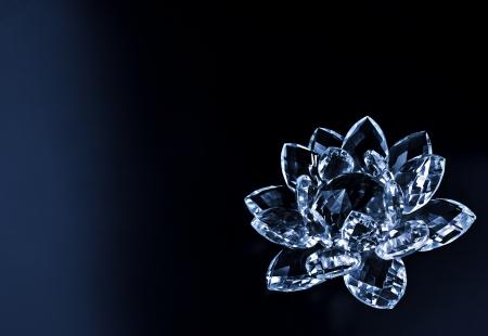 blauw kristal bloem
