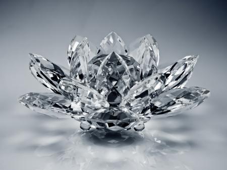 crystal flower Standard-Bild