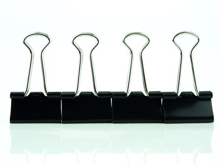 Office accessories, black clips photo