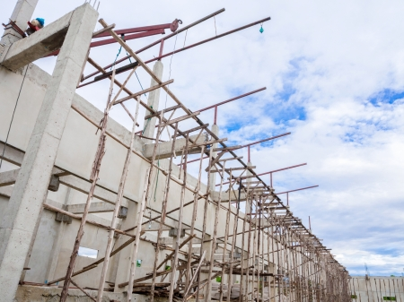 Unfinished construction site with blue sky Standard-Bild