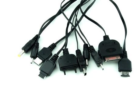 Universal cargador de teléfono celular usb en el fondo aislado Foto de archivo - 15393020