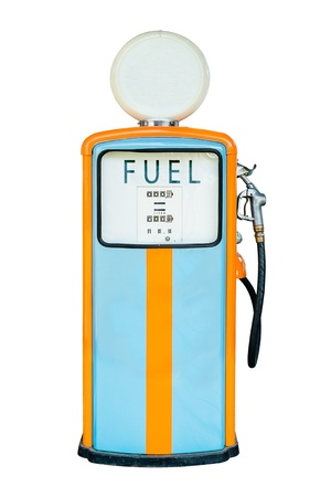Vintage Gas dispenser isolated on white background   photo