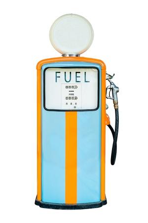 Vintage Gas dispenser isolated on white background