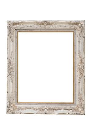 흰색 배경에 빈티지 사진 프레임을 분리합니다.