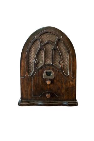 古いラジオを白い背景を分離します。