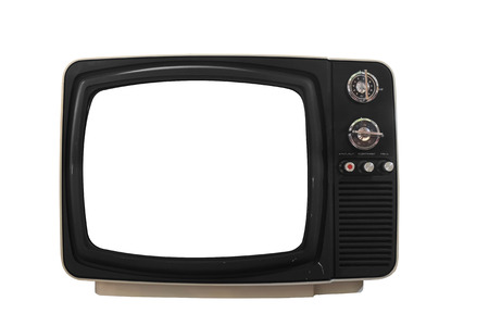 old tv: old television isolated on white background